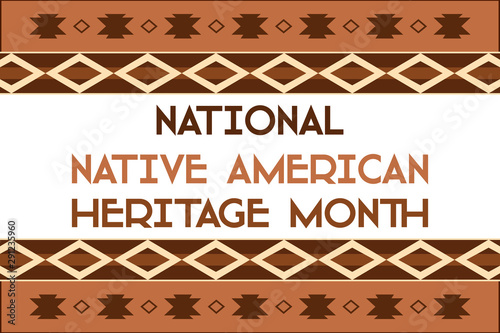 National Native American Heritage Month is an annual designation observed in November Canvas Print