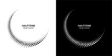 Halftone Circle Dotted Frame C...