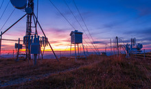 Weather Station In Sunset Moun...