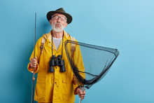 Funny Old Man With Binocular, ...