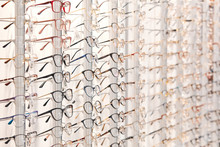 Row Of Stylish Glasses At An O...
