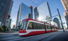 Streetcar In Toronto, Ontario,...