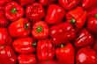 Leinwandbild Motiv Fresh red bell pepper background.
