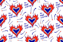 Seamless Pattern With Burning ...