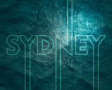 Image Relative To Australia Travel Theme. Sydney City Name In Geometry Style Design. Creative Vintage Typography Poster Concept.