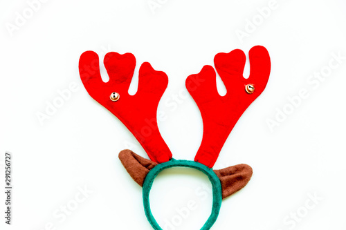 Fotografía Reindeer antlers isolated in white. Christmas concept.