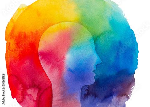 Fényképezés Dipinto acquerello psicologia terapia mente sana
