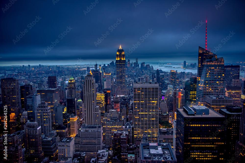 Fototapety, obrazy: Newyork city at night, New York, United Staes of America