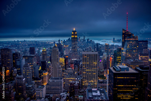 Printed kitchen splashbacks New York Newyork city at night, New York, United Staes of America