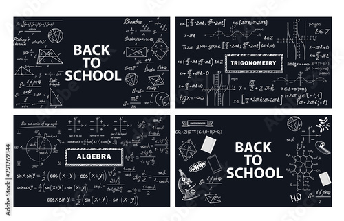 Photo A set of banners back to school
