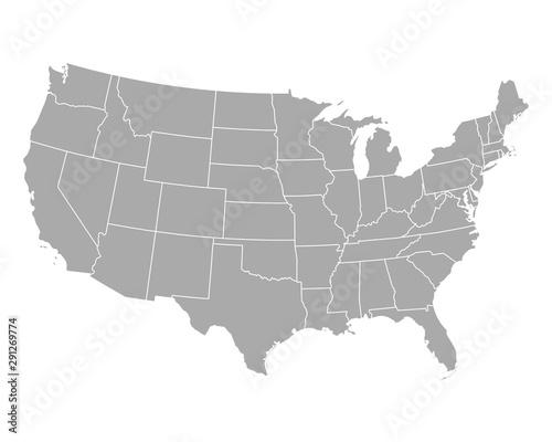 Karte der USA Fotobehang