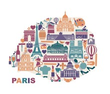 Vector Stylized Map Of Paris W...