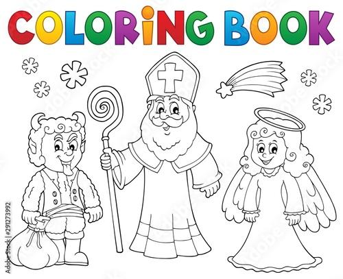 Keuken foto achterwand Voor kinderen Coloring book Saint Nicholas Day theme 2