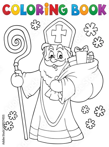 Montage in der Fensternische Für Kinder Coloring book Saint Nicholas topic 2