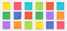 Sticky Notes. Square Colored B...