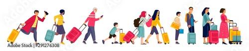 Travelers group Fotobehang