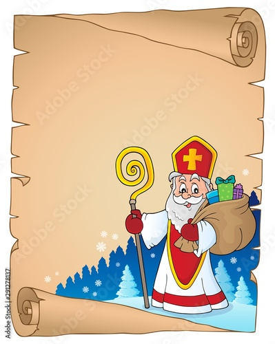 Photo sur Toile Enfants Saint Nicholas topic parchment 6