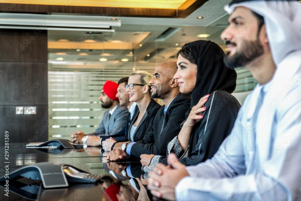 Fototapeta Business team in Dubai