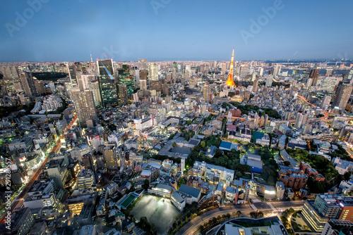 Keuken foto achterwand Wanddecoratie met eigen foto Tokyo Tower and Tokyo skyline by night