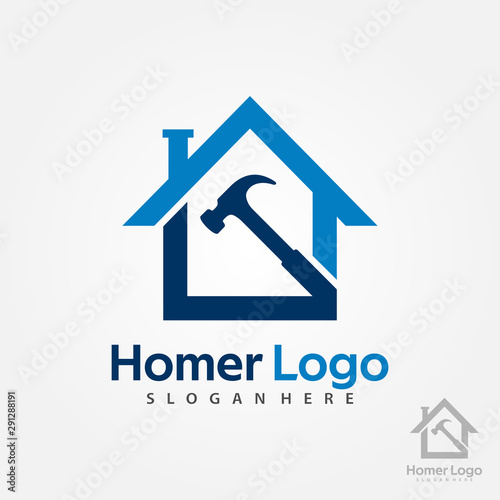 Cuadros en Lienzo  Home Construction Logo Design Template