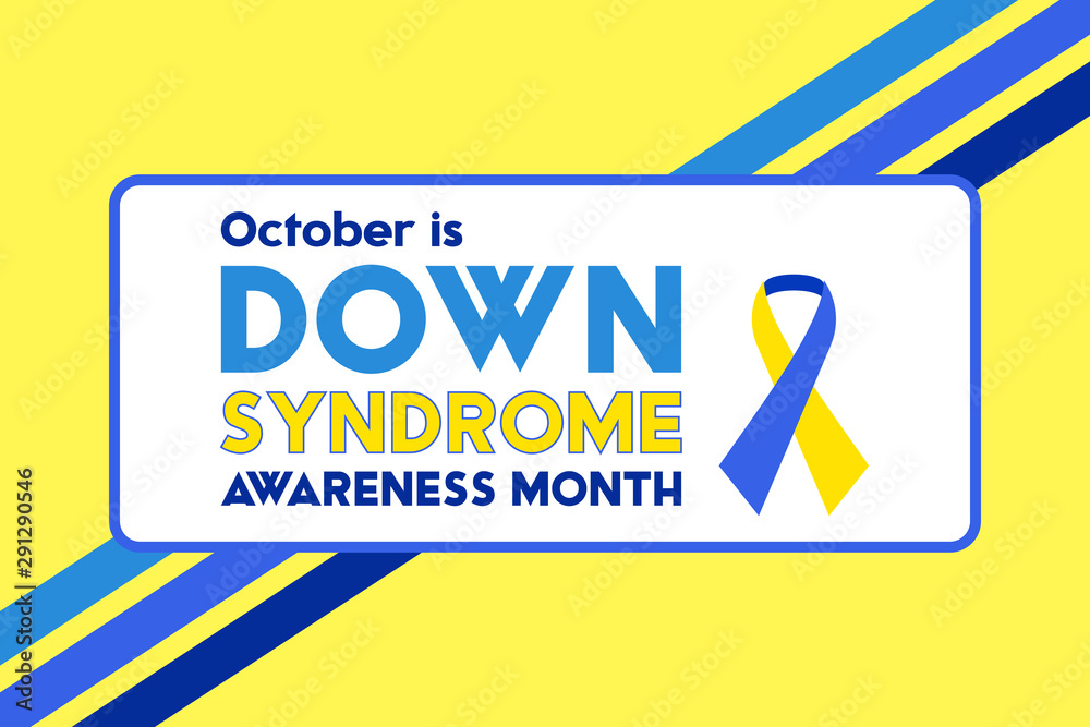 Fototapeta Down Syndrome Awareness Month is an annual designation observed in October. Poster, card, banner, background design.