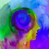 Dipinto acquerello bello mente umana spirale psiche