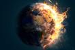Leinwanddruck Bild - Brennende Welt