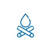 Bonfire Camp Fire Icon Logo Il...