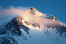 Mountain Peak In National Park, Nepal. Region Of Highest Mountains In The World.