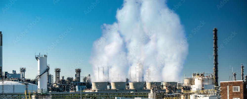 Fototapety, obrazy: co2 emission from factory clouds