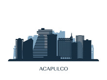 Acapulco Skyline, Monochrome S...