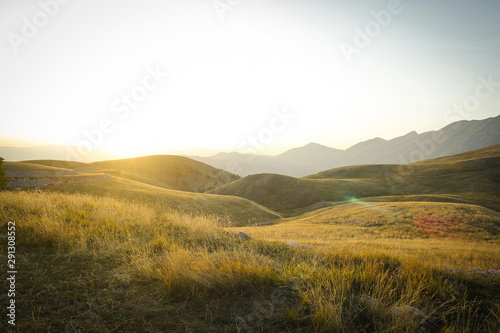Fototapeta valleys near assergi in abbruzzo