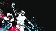 American Football Player. Quarterback Isolated On White. Super Bowl Sport Theme Vector Illustration.