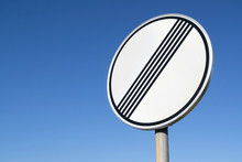 German Road Sign: End Of Previous Limitation