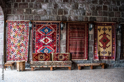 Turkey, Middle East: Turkish rugs hand knotted according to ancient tradition on Canvas Print