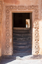 Dogubayazıt, Turkey: The Door And The Stairs To The Mosque Of The Ishak Pasha Palace, The Famous Semi-ruined Palace Of Ottoman Period (1685-1784), Example Of Surviving Historical Turkish Palace