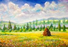 Countryside Warm Rural Art Pai...