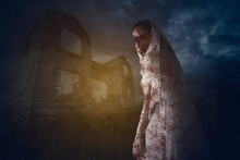 Bride Ghost Standing Near The ...