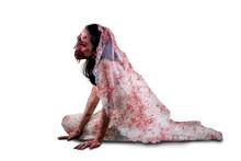 Horrible Female Ghost Crawling...