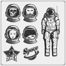 Space And Astronaut Emblems, L...