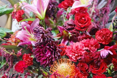 蘭やユリなどの美しい花たち