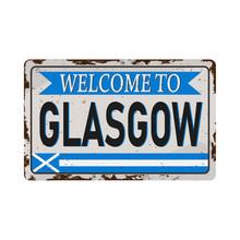 Retro Welcome To Glasgow Vinta...