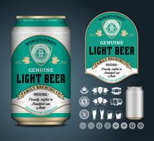 Vector Beer Label. Aluminium C...