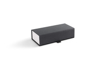 Blank Gray Closed Glasses Case With Lid Mockup, Isolated