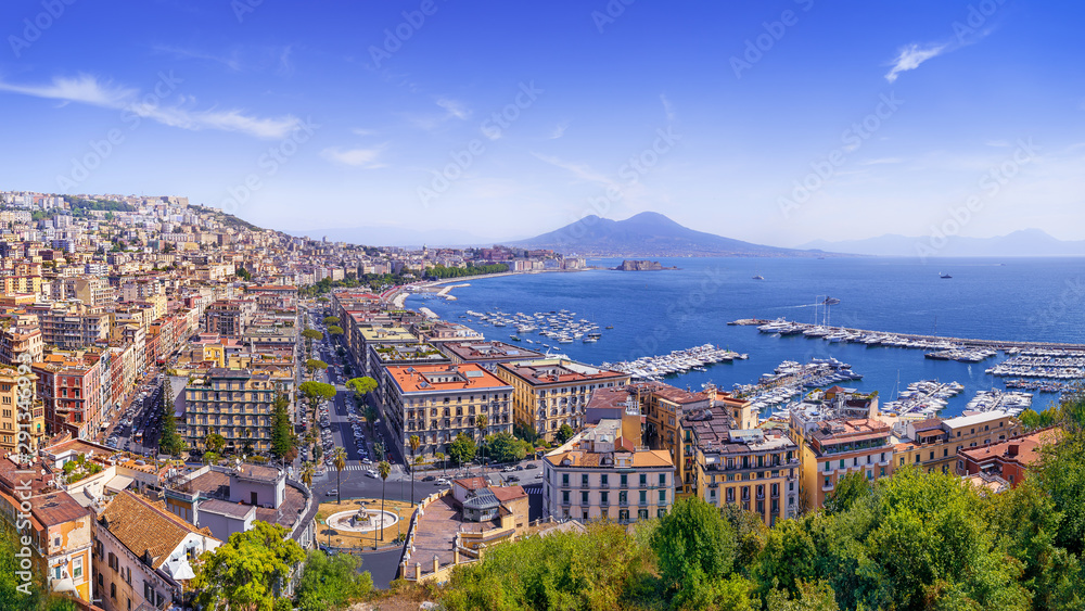 Fototapety, obrazy: the beautiful coastline of napoli, italy