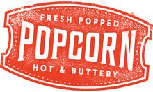 Vintage Fresh Popcorn Sign