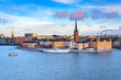 canvas print picture - Panorama of Gamla Stan, Old Town in Stockholm, Sweden