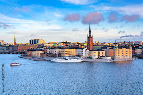 Photo  Panorama of Gamla Stan, Old Town in Stockholm, Sweden