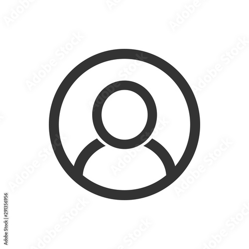 user login or authenticate icon, human person symbol. Canvas Print