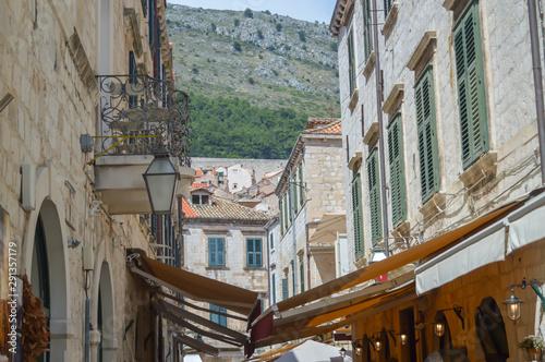 Fotografie, Tablou  Stradun, the city's main street in town Dubrovnik on June 18, 2019